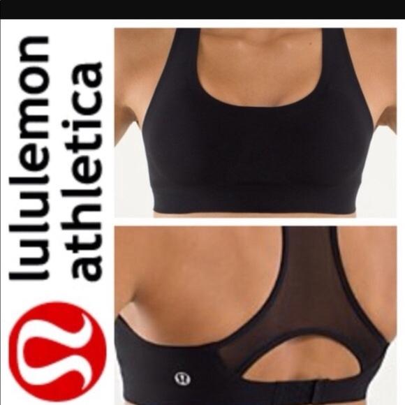9f59485d81357 lululemon athletica Other - Lululemon Sports Bra - Black with mesh back